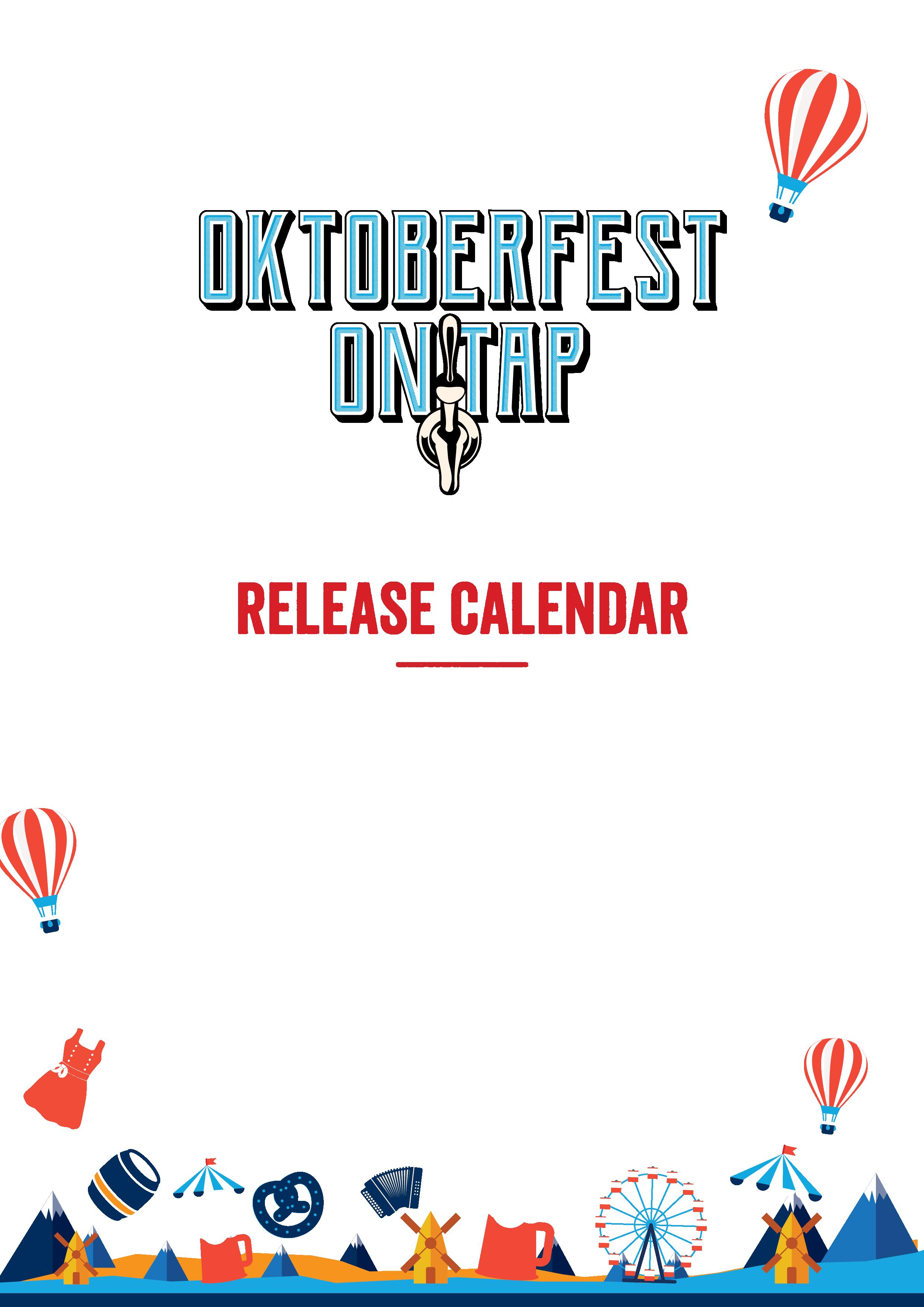 Oktoberfest bier calendar